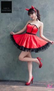 魔女 コスプレ デビル 悪魔 魔女 小悪魔 ハロウィン コスプレ衣装 コスチューム セクシー 仮装 大人 ペア 団体