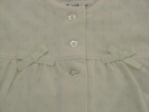 50%OFF Pample Mousse(パンプルムース) 日本製 春物 ベビー服 女の子 裏毛 カーディガン 80 90 95