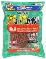 【ドギーマンハヤシ】ヘルシーエクセル ササミ&野菜ジャーキーフード 800gx12個(ケース販売)の画像