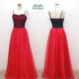 ロングドレス200 鮮やかなオーガンジースカートのロングドレス 胸元レースのパーティードレス 日本製 演奏会 即納 送料無料