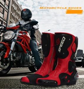 大人気自動車バイク靴 レーシングブーツ バイクブーツ オートバイ用ツーリングシューズ バイク用品 防寒防水機能 シューズ ブーツ 靴