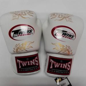 新品 正規 TWINS 本格 ボクシンググローブ 龍白 /サイズ選択/8/10/12/14/16/大人用/子供用/ムエタイ/本革製/マジックテープ式/通販