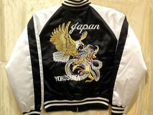 スカジャン 鷹竜 日本製本格刺繍のスカジャン