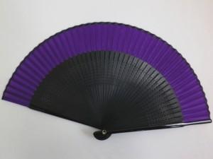 粋なメンズ男性扇子紫×黒 浴衣&着物に