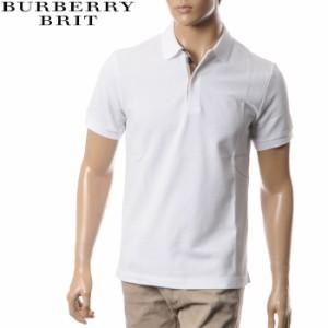 BURBERRY BRIT バーバリー ポロシャツ メンズ 半袖 3955994 ホワイト