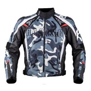 DUHANメンズ バイクジャケット 春夏レーシング服 プロテクター装備 3シーズン バイクウェア 耐磨 防風通気 メッシュ