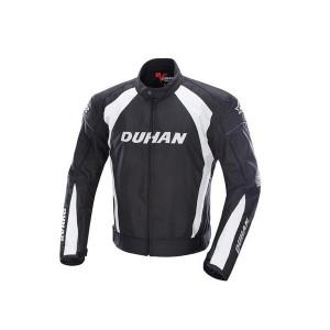 DUHANメンズ バイクジャケット 春夏レーシング服 プロテクター装備 3シーズン バイクウェア 耐磨 ジャケット 防風通気 メッシュ