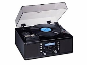 TEAC ターンテーブル&カセット付きCDレコーダー(プレステージ・ピアノブラック仕上げ) LP-R550USB-P/PB