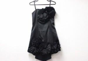 あす着 rienda リエンダ キャミワンピース ノースリーブ ショート丈 ドレス ブラック
