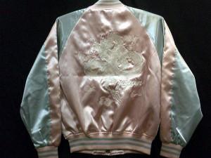 スカジャン 中綿なし 白龍 Sサイズ 日本製本格刺繍のスカジャン