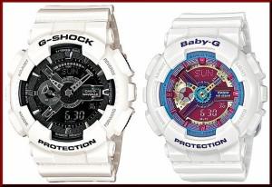 カシオ/G-SHOCK【CASIO/BABY-G】ペアウォッチ 腕時計 ホワイト GA-110GW-7A/BA-112-7A【海外モデル】
