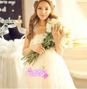 a9461f7a24437  在庫処分特価 即納 短納期 妊娠ドレス♪編み上げタイプ♪ウエディングドレス ウエディングドレス マタニティウエディングドレス・ 二の通販はWowma!