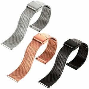 ダニエルウェリントンにも 時計 ベルト 腕時計 バンド 18mm 20mm イージークリック ミラネーゼ メッシュ ベルト ステンレス