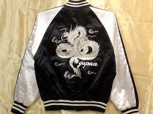 スカジャン 中綿なし 2Lサイズ 白龍 日本製本格刺繍のスカジャン