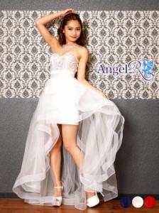 fefc546765347 送料無料 ドレス キャバ  Angel R 巻きスカートインナーミニロングドレス