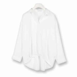 すっきり大人見せ♪裾タックスキッパーシャツトップス/大きいサイズ/2018春新作/大人カジュアル/インスタ映え[C2319]【入荷済】