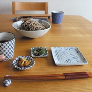 和食器 印判 角小鉢 小皿 和皿 おしゃれ 陶器 日本製 美濃焼 / 吉祥文様 プレゼント ギフト