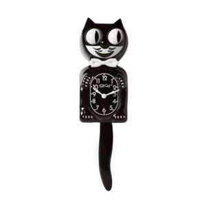 キットキャットクロック クラシックブラック かわいい ネコ 振り子時計 / 掛け時計 / 猫 黒猫