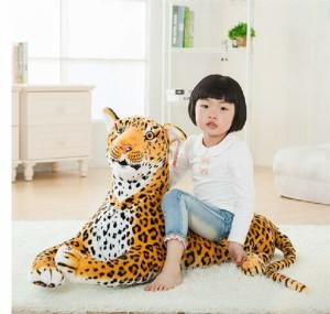 動物 可愛い ライオンぬいぐるみ/ライオン 縫い包み/ライオン抱き枕/お祝い/ふわふわぬいぐるみ豹 50cm