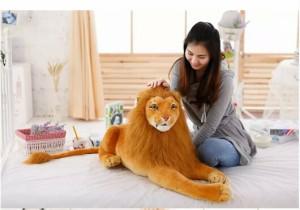 ぬいぐるみ 特大 ライオン /タイガー 大きい ライオンぬいぐるみ/ライオン 縫い包み/ライオン抱き枕/お祝い/ふわふわぬいぐるみ120cm