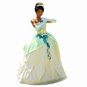 4092f1f367984 高品質 高級コスプレ衣装 ディズニー風 プリンセスと魔法のキス ティアナ タイプ ドレス コスチューム