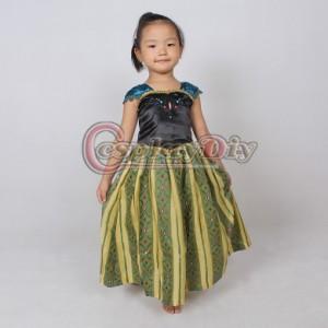92dd606906466 高品質 高級コスプレ衣装 ディズニー風 アナと雪の女王 ドレス アナ エルサ