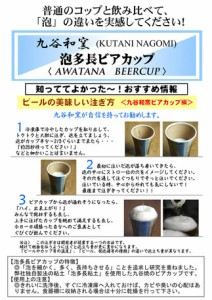 【九谷和窯】 泡がおいしい泡多長ビアカップ 白刷毛白椿 350cc  タンブラー