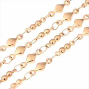 3ミリ スイートダイヤ ネックレス ステンレス 長さ35cm〜59cm アジャスターAB 316L [c40]