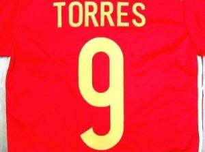 子供用 K014 14 スペイン TORRES*9 トーレス 赤金 ゲームシャツ パンツ付 /サッカー/キッズ/ジュニア/ユニフォーム/上下セット