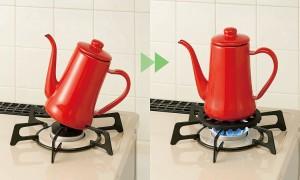 送料無料◆コジット(COGIT) 小さな鍋が乗る五徳 (小さな鍋やポットを安定して使用) 家庭用ガスコンロ専用 【キッチン】 【生活雑貨】