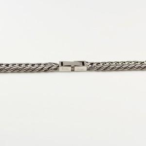 ブレスレット 6面Wキヘイ 約18cm 幅5.7mm サージカルステンレス316L 喜平チェーン Crazy Angel クレイジー エンジェル