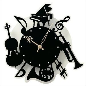 送料無料 壁掛け時計 楽器 SA-0103 壁掛け時計 時計 おしゃれ 楽器 かわいい
