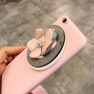 ミラー フラワー iPhone シェルカバー ケース  鏡 ★  iPhone  6 / 6s / 6Plus / 6sPlus / 7 / 7Plus / 8 / 8Plus ★ [NW231]