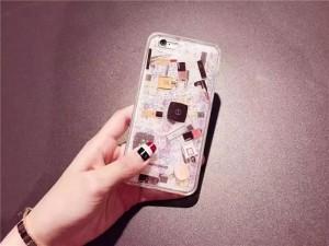 461885c994 【新発売】iPhone6s iPhone6splus キラキラ流れ星☆グリッターiPhone7 iphone7plus 専用ケース ストーン 化粧品  リップ マニキュア