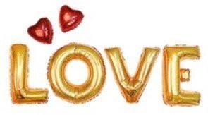 ゴールド アルミ風船バルーン LOVE+ハート付き 文字 風船 飾り ウェディング 結婚式 パーティー イベント 二次会 バルーン