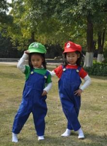 スーパーマリオ ルイージ   キッズ版 コスプレ衣装 クリスマス・ハロウィン仮装