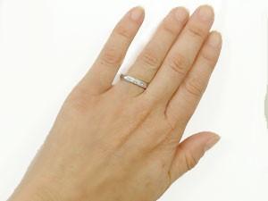 指輪 ハワイアンジュエリー リング シルバー ミル打ち ハワイアンリング 地金リング sv925 ストレート