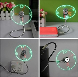 USB 時計 扇風機 ミニファン 面白い扇風機 USB CLOCK FAN