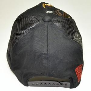 和柄メッシュキャップ 帽子 メンズレディース 絡繰魂虎竹刺繍 おしゃれカジュアル フリーサイズ 273859