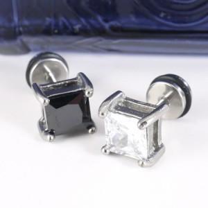 ボディピアス [Soeur de Nana] スクエアダイヤモンドフェイクプラグ/16G ボディーピアス
