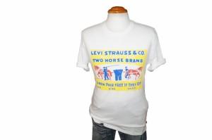 リーバイス Levis 半袖Tシャツ ツーホースマーク wy オーガニックコットン メンズ ホワイト