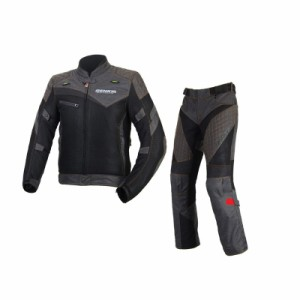 BENKIA メンズ春夏上下セットバイクジャケット+パンツ プロテクター装備 3シーズン バイクウェア 耐磨 防風通気  メッシュ 商標5838742