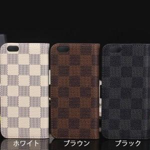 11ae152f1f iPhone8 8 Plus iPhoneX Xs XR Xs MAX モノトーン チェック柄 格子柄 市松模様 レザー 手帳型ケース iphone8  プラス x xs xr xs maxの通販はWowma!