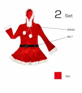 【送料無料】サンタ コスプレ クリスマス コスチューム  衣装 サンタクロース コスチューム セクシー パーティ サンタコス