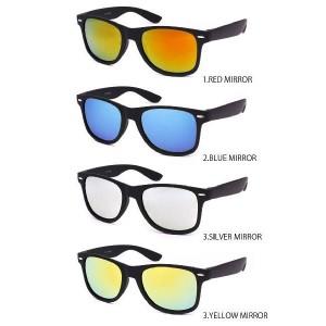 【NEW】ウェイリントンフレーム ミラー レンズ サングラス(UVカット ウェリントン カラー フレーム【予約】KIM500-mirror