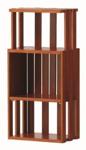 送料無料◆上昇ラック ピース 幅27cm WR270 ブラウン/ナチュラル (ディスプレイラック/多目的ラック/収納棚) 【家具】 WR270BR