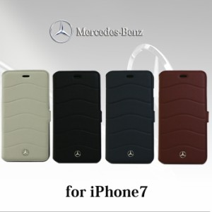 265b2b84c6 エアージェイ メルセデス ベンツ 公式ライセンス品 iPhone7ケース 手帳型 本革 アイフォン7ケース