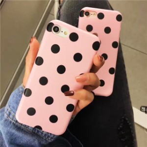 ピンク 水玉模様 ドット iPhone シェルカバー ケース ★ iPhone 6 / 6s / 6Plus / 6sPlus / 7 / 7Plus / 8 / 8Plus ★ [NW314]