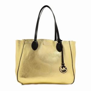 (マイケルコース)MICHAEL Michael Kors Mae Tote Bag Black/P Gold マエ リバーシブルトートバッグ ブラック/ゴールド(お取り寄せ)
