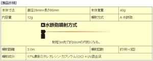 催涙スプレー B-103 ポリスマグナム 1/2オンス スピントップ・イエロー【送料無料(沖縄・離島除く)】【日本護身用品協会認定】